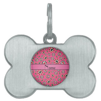Personalized name pink poker chips pet tag