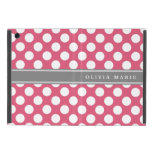 Personalized Name Pink Polka Dots Pattern Case For iPad Mini