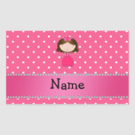 Personalized name pink princess pink polka dots stickers