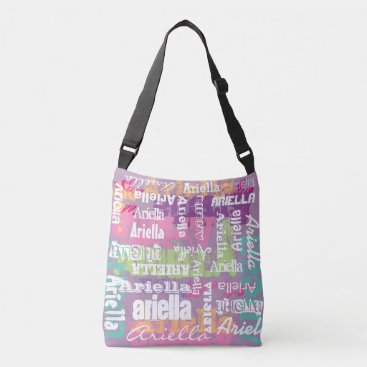 adams_apple Personalized Name Pink Purple Crossbody Bag