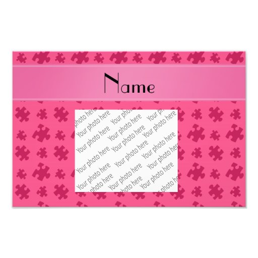 Personalized name pink puzzle photo