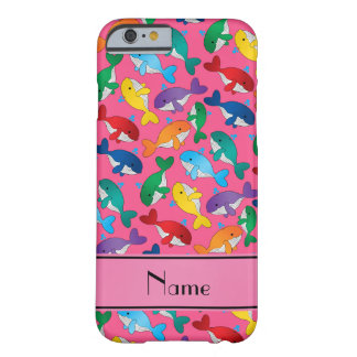 Personalized name pink rainbow blue whales barely there iPhone 6 case