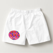 Personalized name pink rainbow octopus boxers