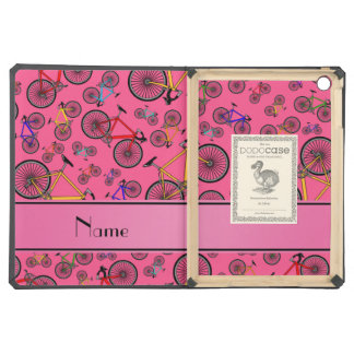 Personalized name pink road bikes cover for iPad air