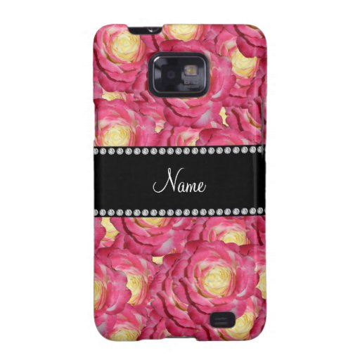 Personalized name Pink roses Galaxy SII Cover