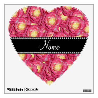 Personalized name Pink roses Wall Graphic