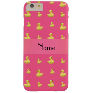 Personalized name pink rubber duck pattern barely there iPhone 6 plus case