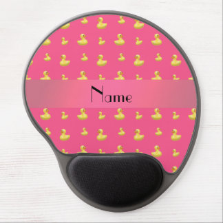 Personalized name pink rubber duck pattern gel mouse pad
