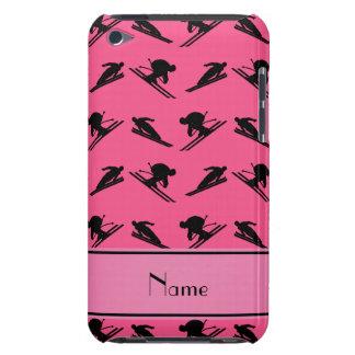 Personalized name pink ski pattern iPod Case-Mate case