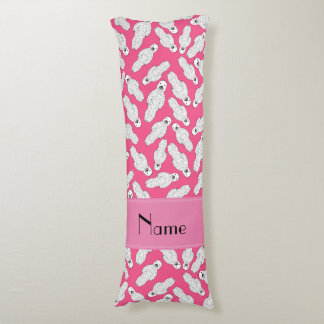Personalized name pink spotted seal body pillow