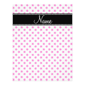 Personalized name Pink stars Full Color Flyer