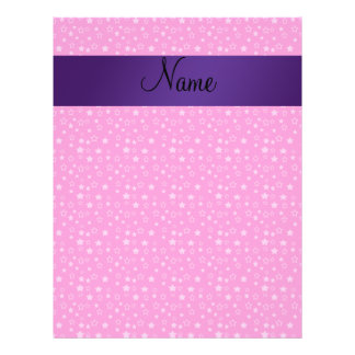 Personalized name pink stars custom flyer