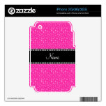 Personalized name pink stars iPhone 3 decals