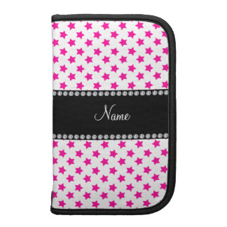 Personalized name Pink stars Folio Planner