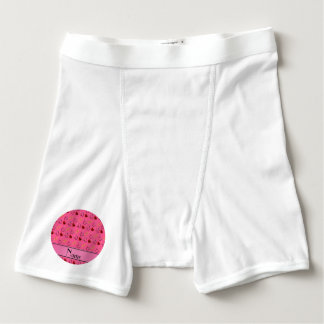 Personalized name pink stethoscope bandage heart boxer briefs