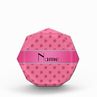 Personalized name pink strawberries pattern award