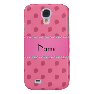 Personalized name pink strawberries pattern HTC vivid cover
