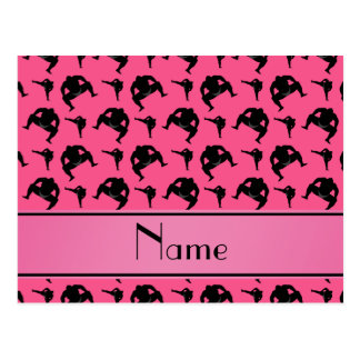Personalized name pink sumo wrestling postcard