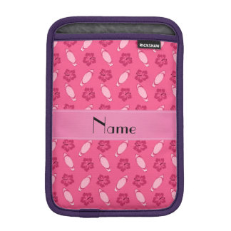 Personalized name pink surfboard pattern iPad mini sleeves