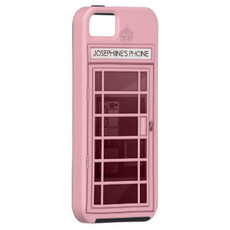 Personalized Name Pink Telephone Box iPhone 5 Case