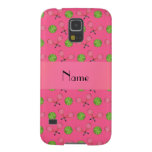 Personalized name pink tennis balls galaxy s5 cover