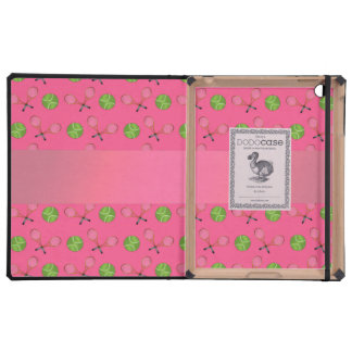 Personalized name pink tennis balls iPad case