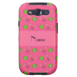 Personalized name pink tennis balls galaxy s3 covers