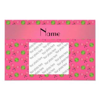 Personalized name pink tennis balls art photo