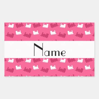 Personalized name pink train pattern sticker