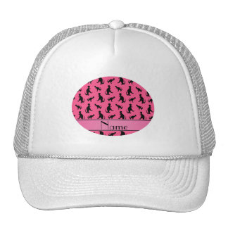 Personalized name pink trex dinosaurs trucker hat