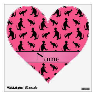 Personalized name pink trex dinosaurs wall skins