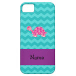 Personalized name pink turtle iPhone 5 case