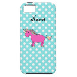 Personalized name pink unicorn iPhone 5 cover