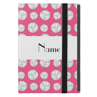 Personalized name pink volleyball balls iPad mini cases