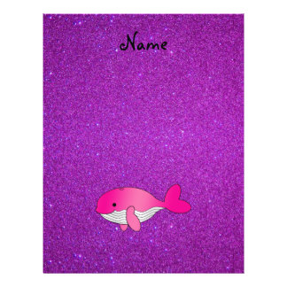 Personalized name pink white purple glitter flyers