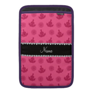 Personalized name pink yoga pattern sleeves for MacBook air