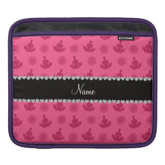 Personalized name pink yoga pattern sleeve for iPads