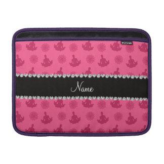 Personalized name pink yoga pattern MacBook air sleeve