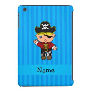Personalized name pirate blue stripes iPad mini retina case