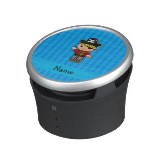 Personalized name pirate blue stripes bluetooth speaker
