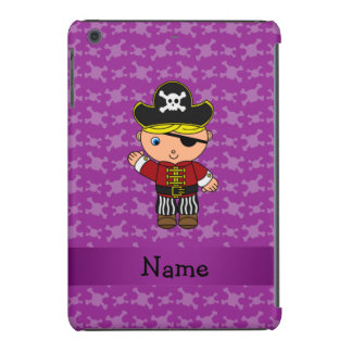 Personalized name pirate purple skulls iPad mini retina cover