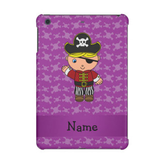 Personalized name pirate purple skulls iPad mini retina case