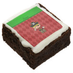 Personalized name pirate red argyle brownie