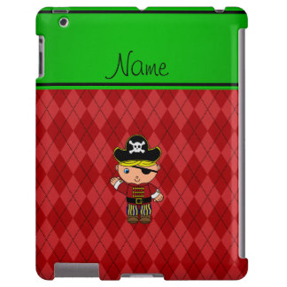 Personalized name pirate red argyle