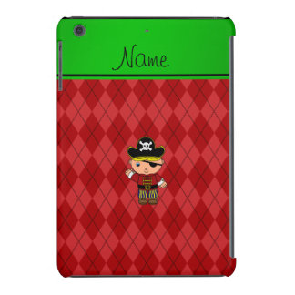 Personalized name pirate red argyle iPad mini cover
