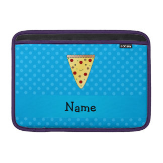 Personalized name pizza blue polka dots MacBook air sleeves
