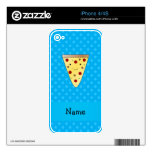 Personalized name pizza blue polka dots iPhone 4 decal