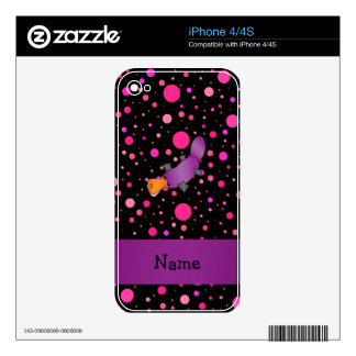 Personalized name platypus pink polka dots decal for the iPhone 4