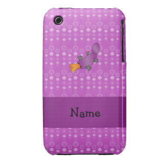 Personalized name platypus purple bubbles iPhone 3 covers