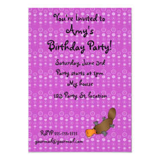 Personalized name platypus purple bubbles personalized announcement